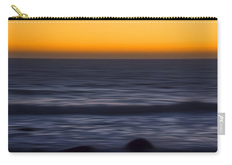 Sunset Carry-all Pouch featuring the photograph Pacific Abstract Sunset by Erika Fawcett