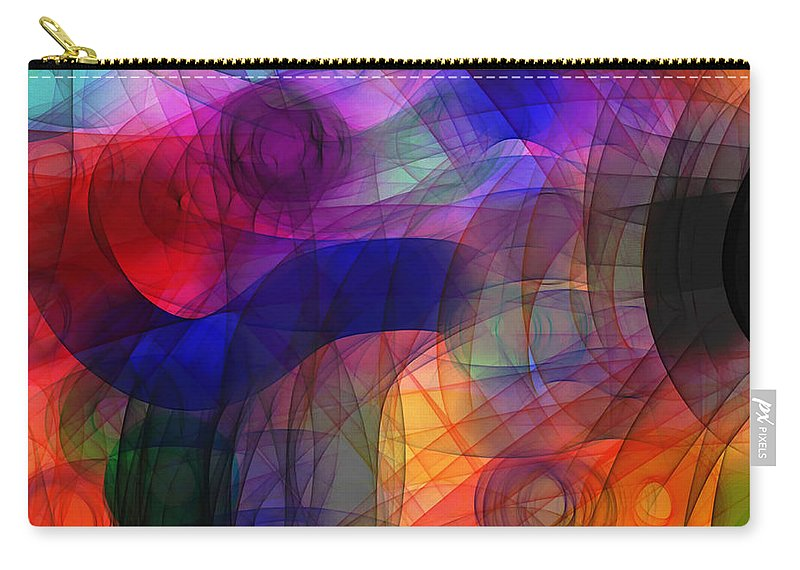Digital Art Carry-all Pouch featuring the digital art Abstract Watercolor by Shannon Story