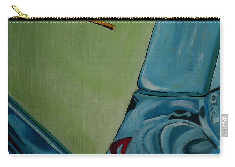 Chevy Carry-all Pouch featuring the painting Chevrolet by Anthony Dunphy