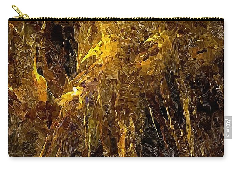 Graphics Carry-all Pouch featuring the digital art Abstraction 0351 Marucii by Marek Lutek