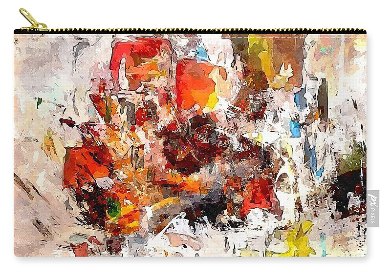 Graphics Carry-all Pouch featuring the digital art Abstraction 0365 Marucii by Marek Lutek