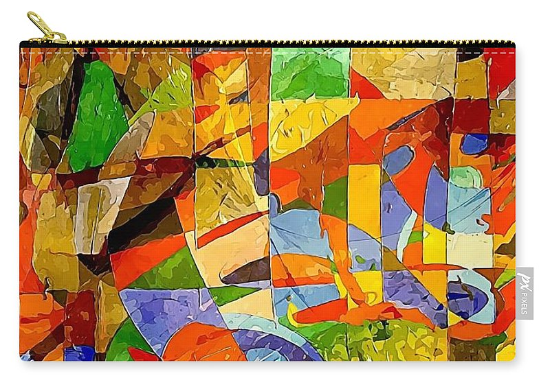 Graphics Carry-all Pouch featuring the digital art Abstraction 0368 Marucii by Marek Lutek