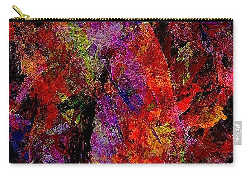 Graphics Carry-all Pouch featuring the painting Abstraction 0383 - Marucii by Marek Lutek