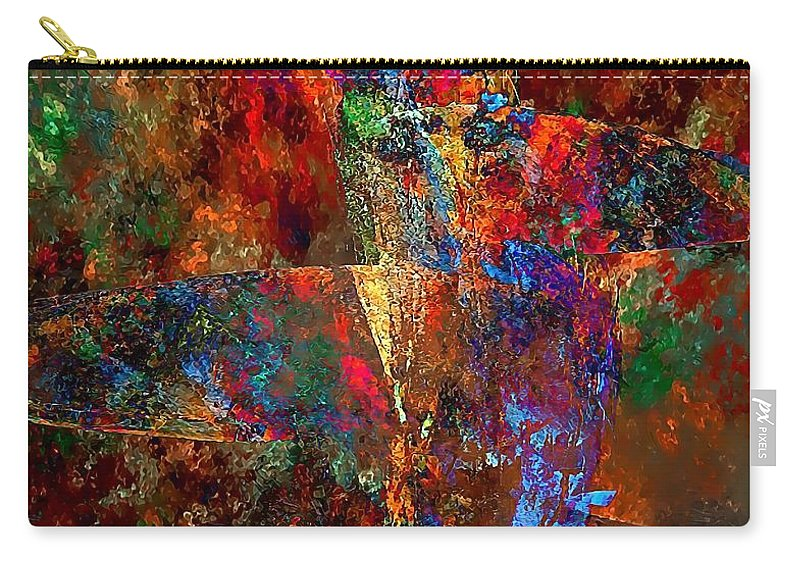 Graphics Carry-all Pouch featuring the digital art Abstraction 0393 Marucii by Marek Lutek