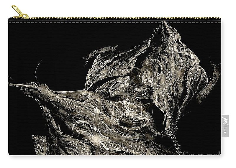 Graphics Carry-all Pouch featuring the digital art Abstraction 0420 Marucii by Marek Lutek