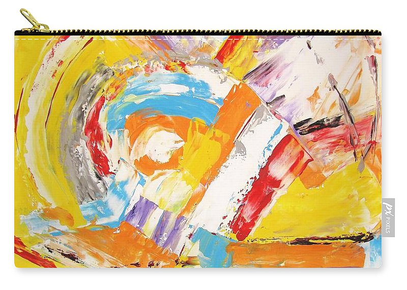 Graphics Carry-all Pouch featuring the painting Abstraction 0473 Marucii by Marek Lutek