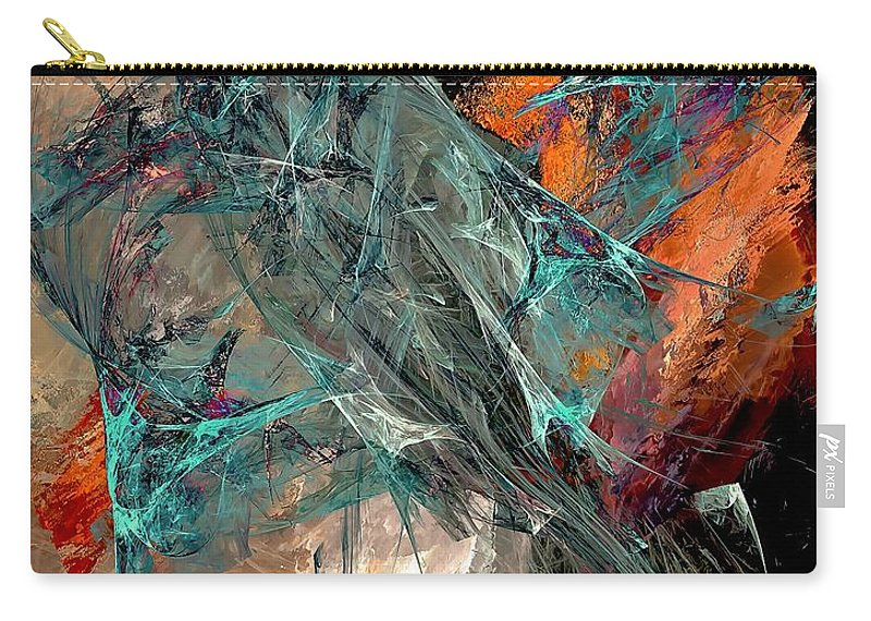 Graphics Carry-all Pouch featuring the digital art Abstraction 0490 Marucii by Marek Lutek
