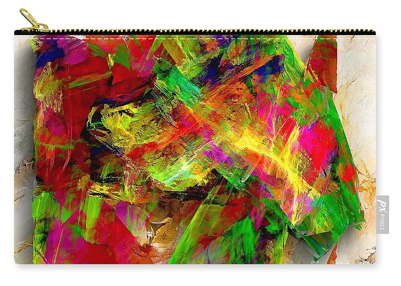 Graphics Carry-all Pouch featuring the digital art Abstraction 0492 Marucii by Marek Lutek
