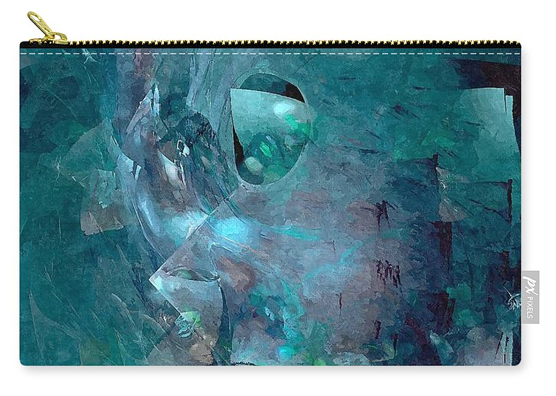 Graphics Carry-all Pouch featuring the digital art Abstraction 0493 Marucii by Marek Lutek