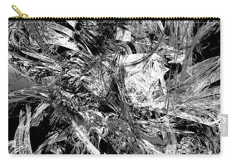 Graphics Carry-all Pouch featuring the digital art Abstraction 0495 - Marucii by Marek Lutek