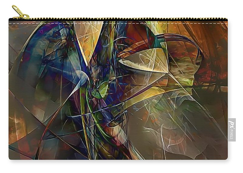 Graphics Carry-all Pouch featuring the digital art Abstraction 0497 Marucii by Marek Lutek