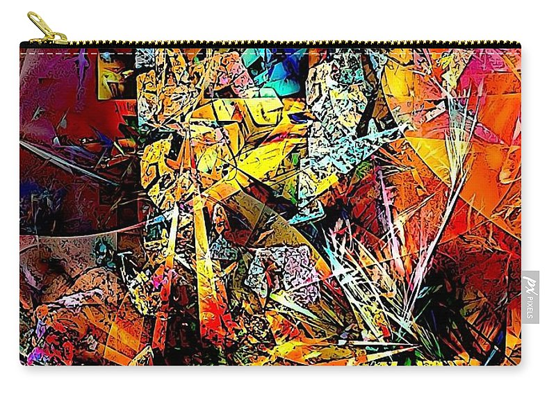 Graphics Carry-all Pouch featuring the digital art Abstraction 0526 Marucii by Marek Lutek
