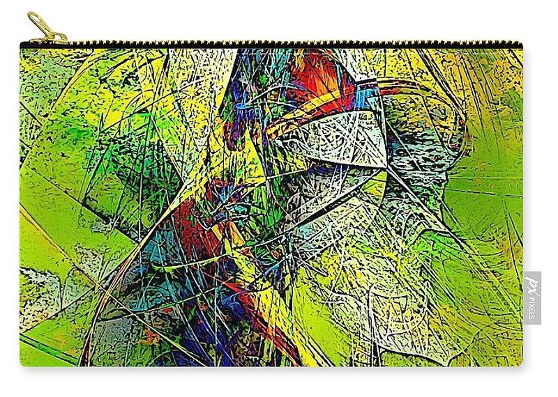 Graphics Carry-all Pouch featuring the digital art Abstraction 0527 Marucii by Marek Lutek