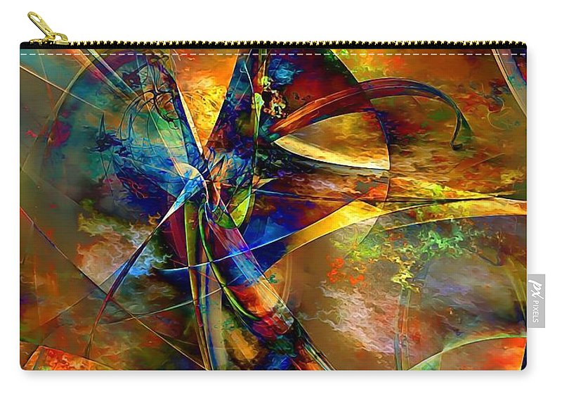 Graphics Carry-all Pouch featuring the painting Abstraction 0528 - Marucii by Marek Lutek