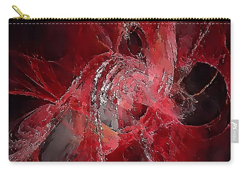 Graphics Carry-all Pouch featuring the digital art Abstraction 0536 Marucii by Marek Lutek