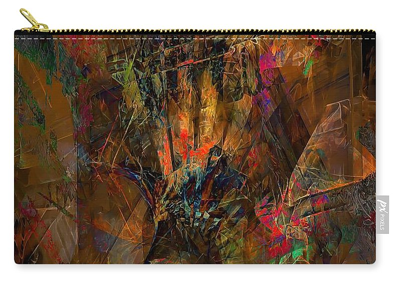 Graphics Carry-all Pouch featuring the digital art Abstraction 0555 Marucii by Marek Lutek