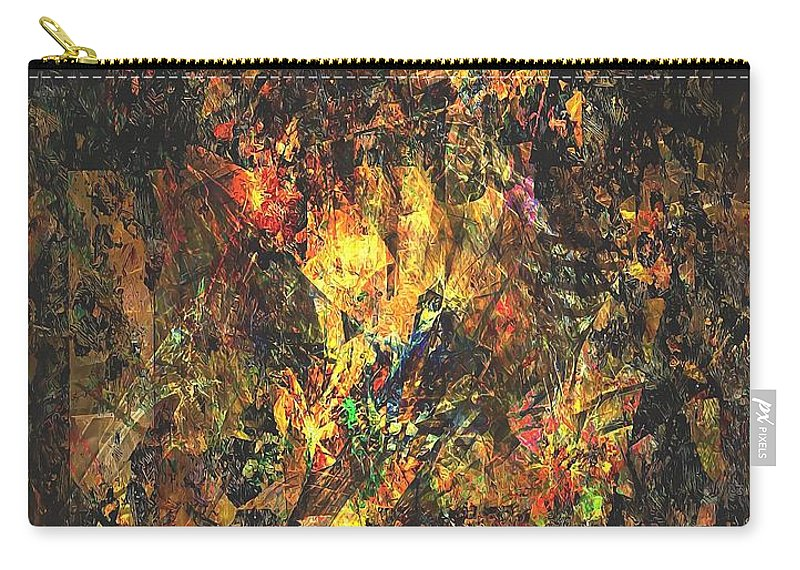 Graphics Carry-all Pouch featuring the digital art Abstraction 0556 Marucii by Marek Lutek