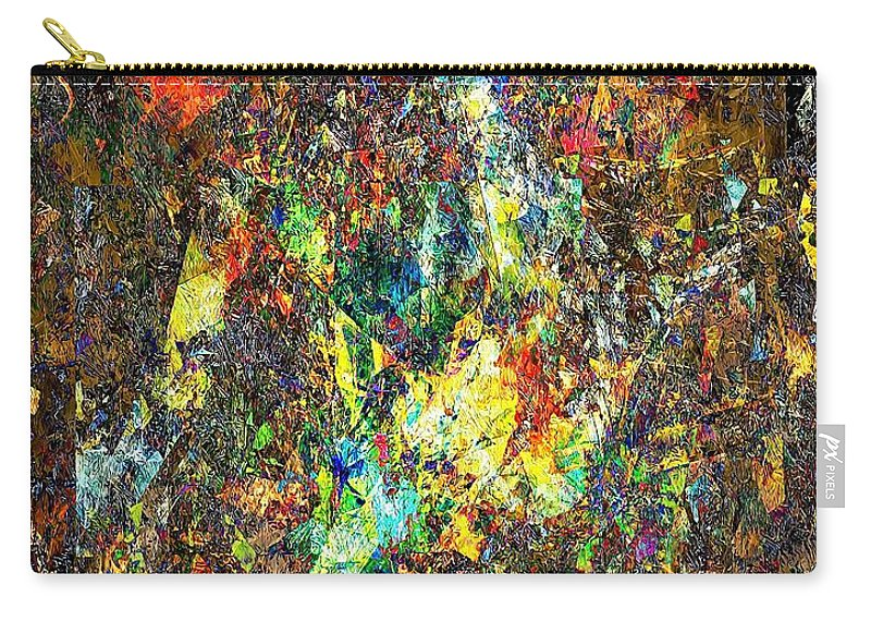 Graphics Carry-all Pouch featuring the digital art Abstraction 0557 Marucii by Marek Lutek