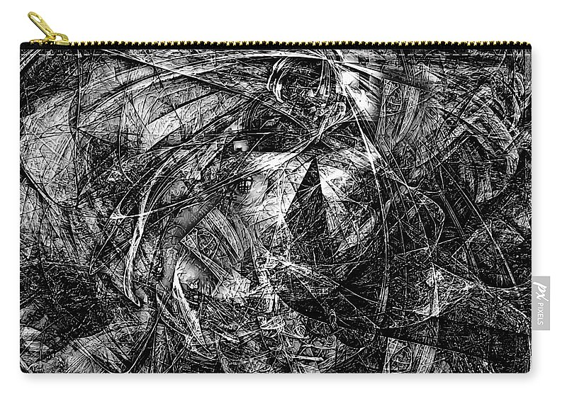 Graphics Carry-all Pouch featuring the digital art Abstraction 0560 - Marucii by Marek Lutek