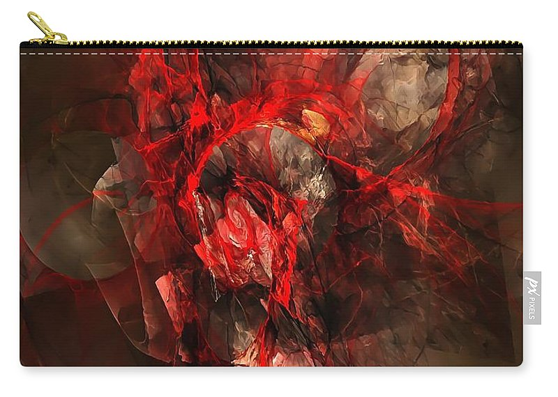 Graphics Carry-all Pouch featuring the digital art Abstraction 0562 Marucii by Marek Lutek