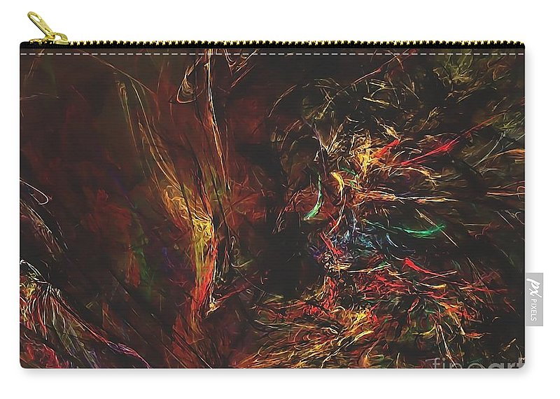 Graphics Carry-all Pouch featuring the digital art Abstraction 0564 Marucii by Marek Lutek