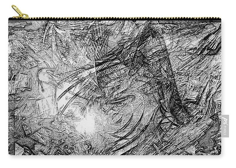 Graphics Carry-all Pouch featuring the digital art Abstraction 0565 - Marucii by Marek Lutek
