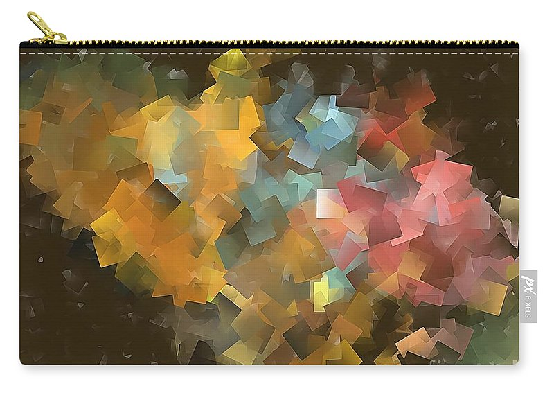 Graphics Carry-all Pouch featuring the digital art Abstraction 0566 Marucii by Marek Lutek