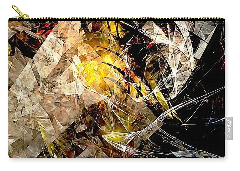 Graphics Carry-all Pouch featuring the digital art Abstraction 0576 - Marucii by Marek Lutek