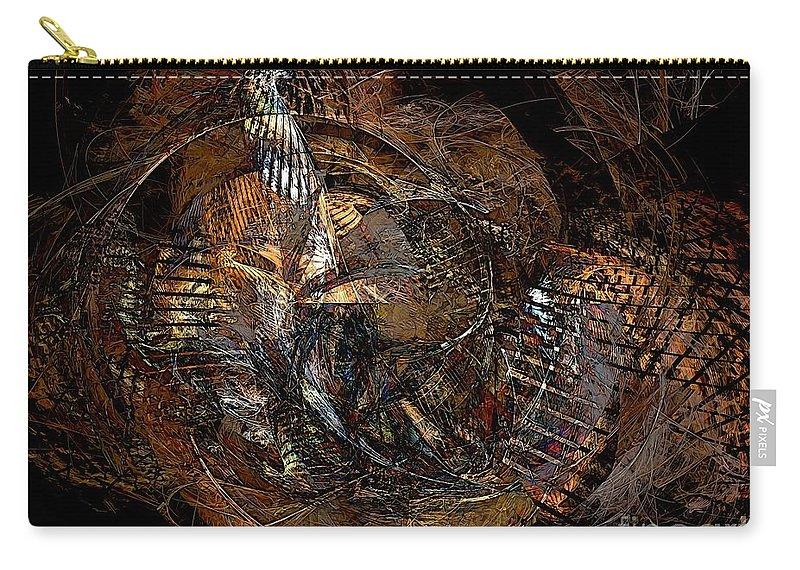Graphics Carry-all Pouch featuring the painting Abstraction 0598 - Marucii by Marek Lutek
