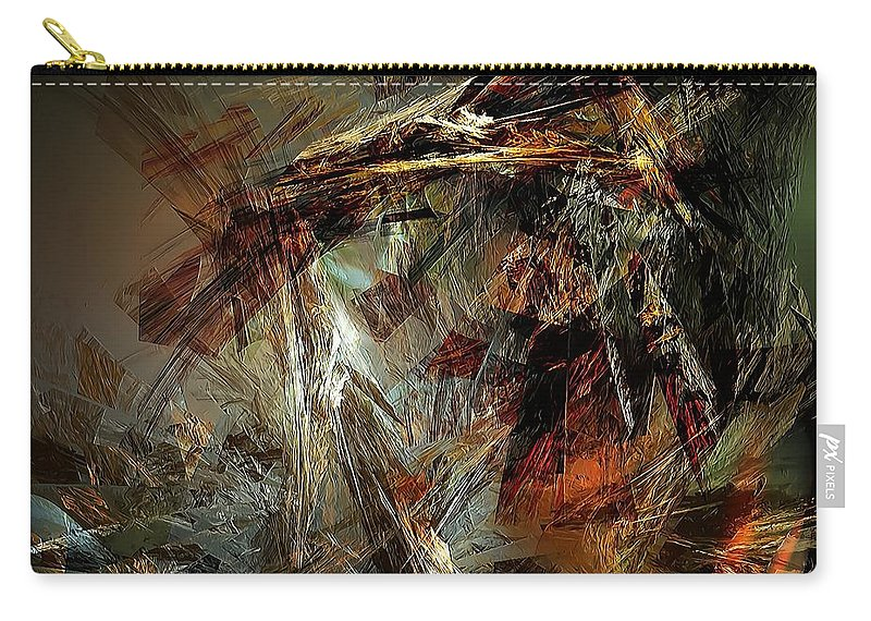 Graphics Carry-all Pouch featuring the digital art Abstraction 0599 - Marucii by Marek Lutek