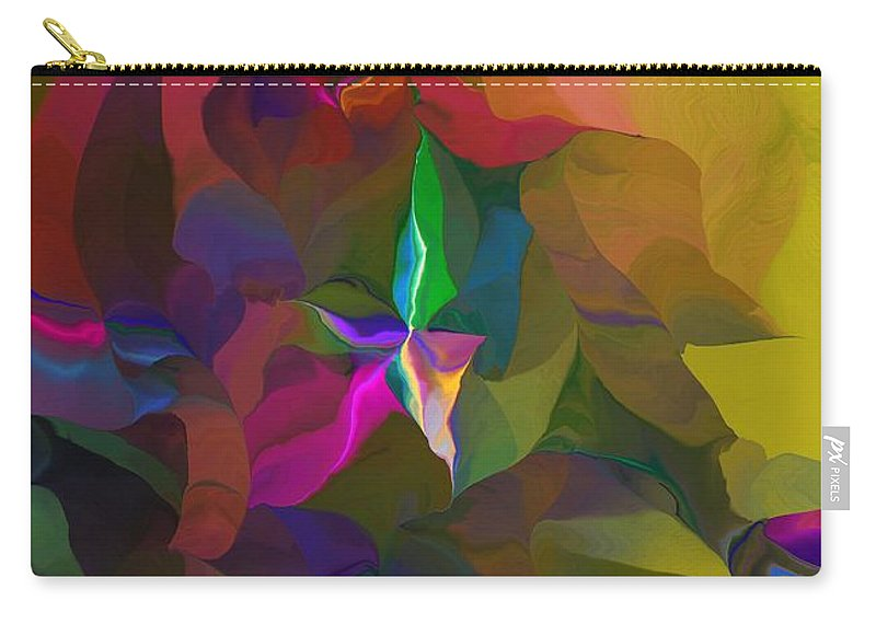 Fine Art Carry-all Pouch featuring the digital art Abstraction 111212 by David Lane