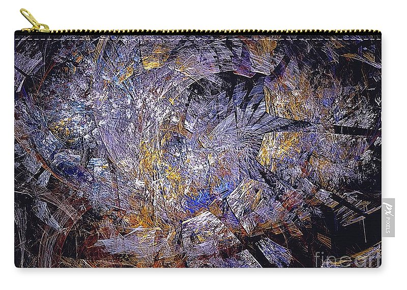 Abstract Carry-all Pouch featuring the digital art Abstraction 472-09-13 Marucii by Marek Lutek