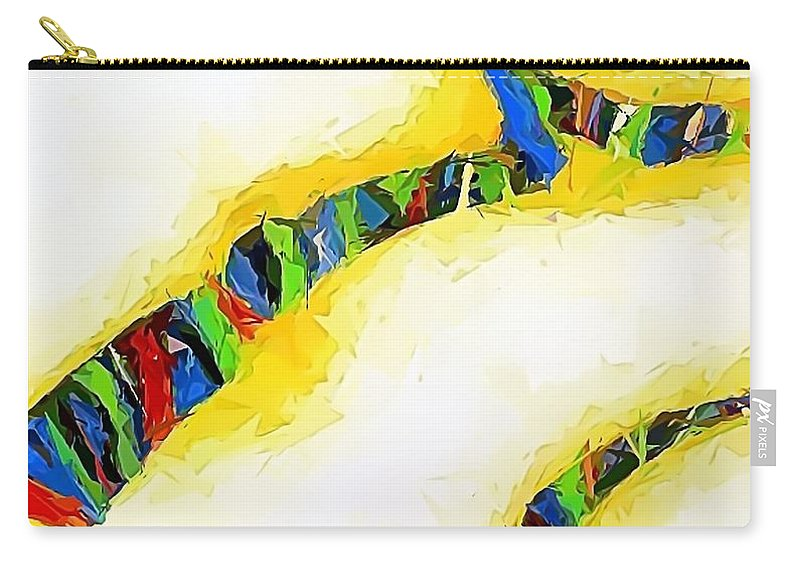Graphics Carry-all Pouch featuring the painting Abstraction 472 - Marucii by Marek Lutek