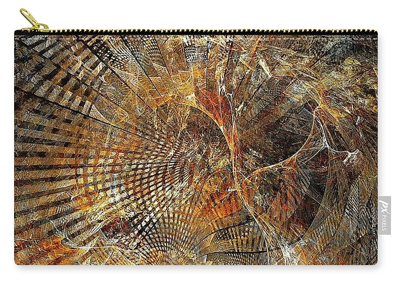 Abstract Carry-all Pouch featuring the digital art Abstraction 473-09-13 Marucii by Marek Lutek