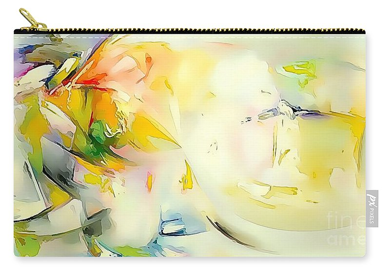 Abstract Carry-all Pouch featuring the painting Abstraction 585-11-13 Marucii by Marek Lutek