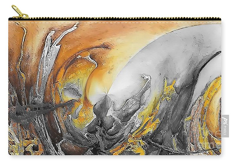 Abstract Carry-all Pouch featuring the painting Abstraction 587-11-13 Marucii by Marek Lutek