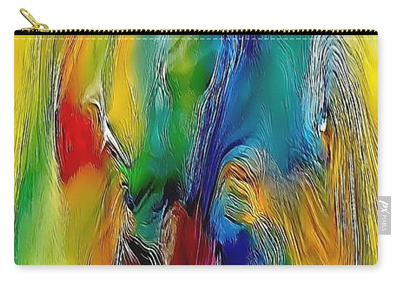 Abstract Carry-all Pouch featuring the painting Abstraction 591-11-13 Marucii by Marek Lutek