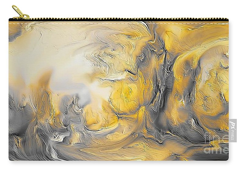 Abstract Carry-all Pouch featuring the painting Abstraction 592-11-13 Marucii by Marek Lutek