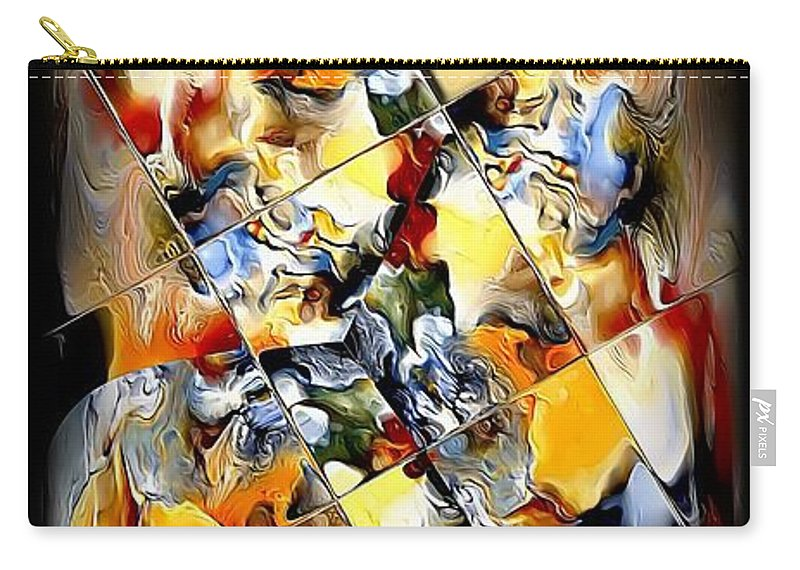 Abstract Carry-all Pouch featuring the digital art Abstraction 596-11-13 Marucii by Marek Lutek