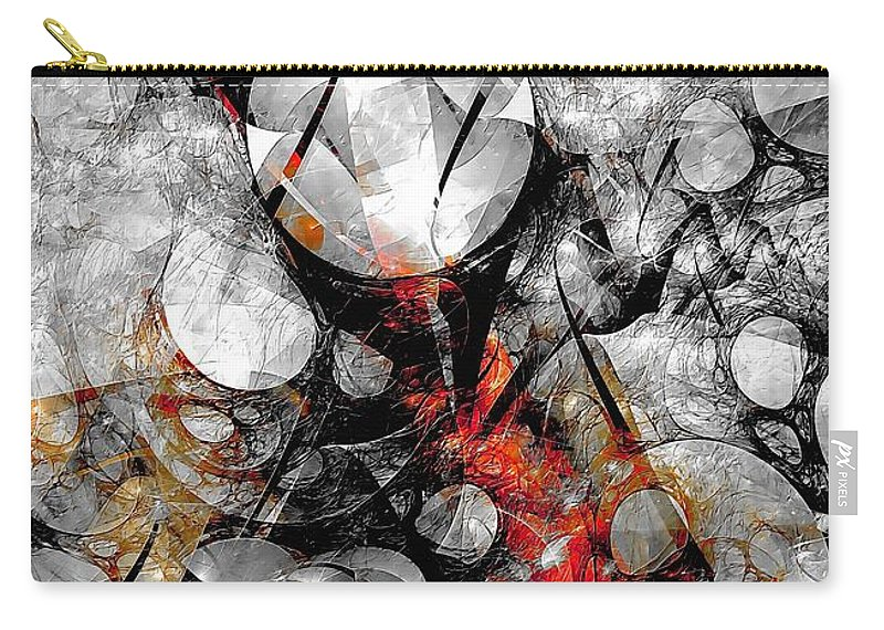 Graphic Carry-all Pouch featuring the painting Abstraction 664 - Marucii by Marek Lutek
