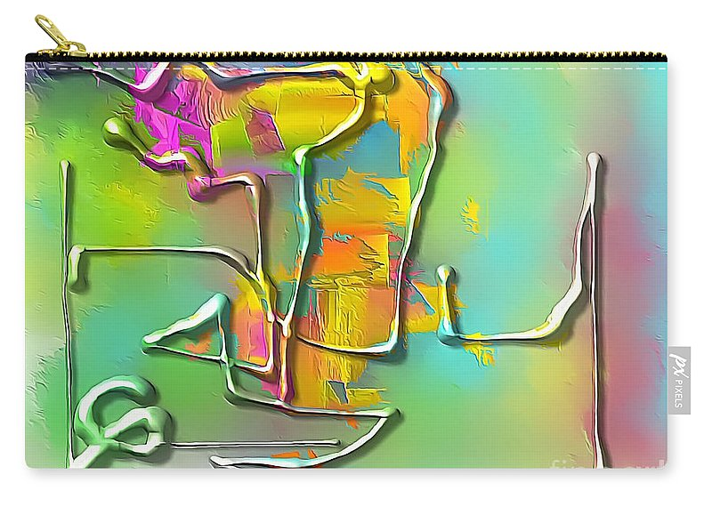 Graphic Carry-all Pouch featuring the digital art Abstraction 702 -marucii by Marek Lutek