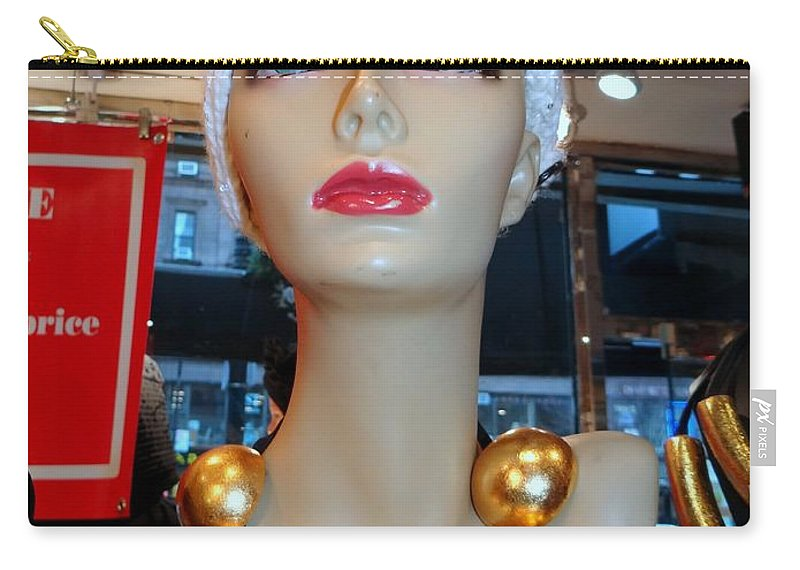 Mannequins Carry-all Pouch featuring the photograph Accent Necklace by Ed Weidman