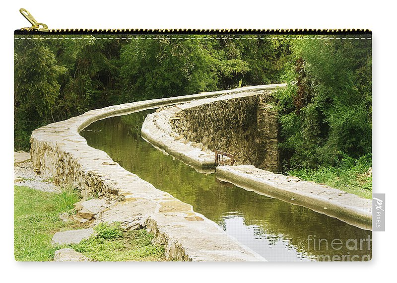 Acequia Carry-all Pouch featuring the photograph Acequia by Gary Richards