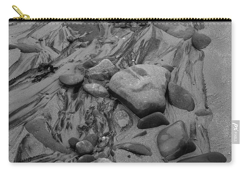 Scotland Carry-all Pouch featuring the photograph Achnahaird Beach Bw by Tom Daniel