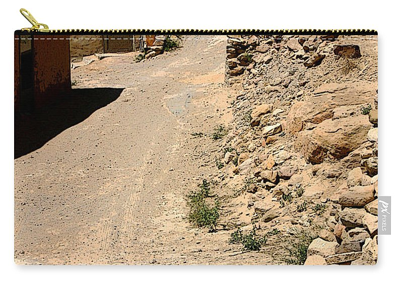 Acoma Carry-all Pouch featuring the photograph Acoma Pueblo Street Scene by Joe Kozlowski