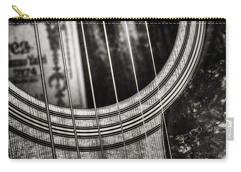 Guitar Carry-all Pouch featuring the photograph Acoustically Speaking by Scott Norris
