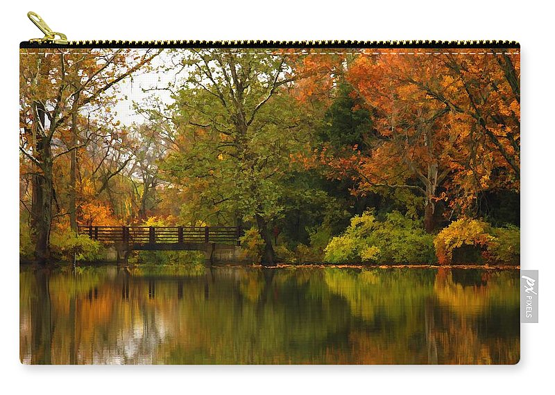 Lake Carry-all Pouch featuring the photograph Across The Lake by Lyle Hatch
