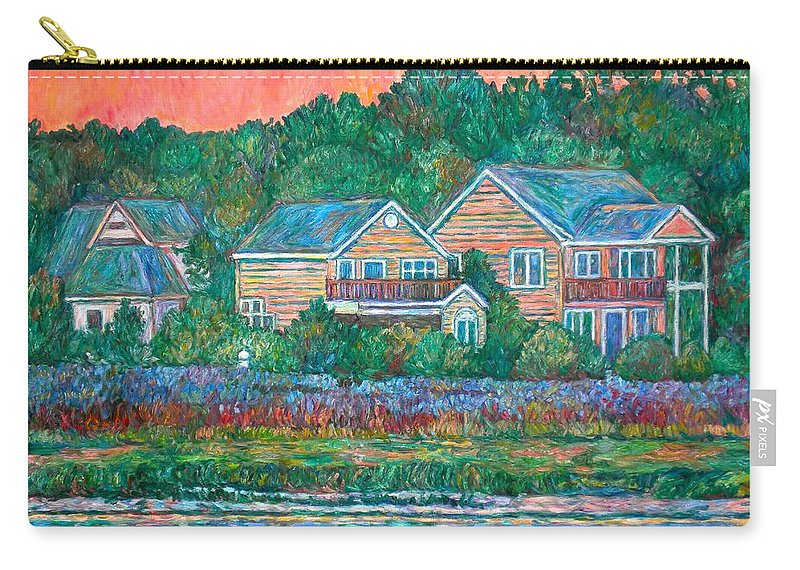 Landscape Carry-all Pouch featuring the painting Across The Marsh At Pawleys Island    by Kendall Kessler