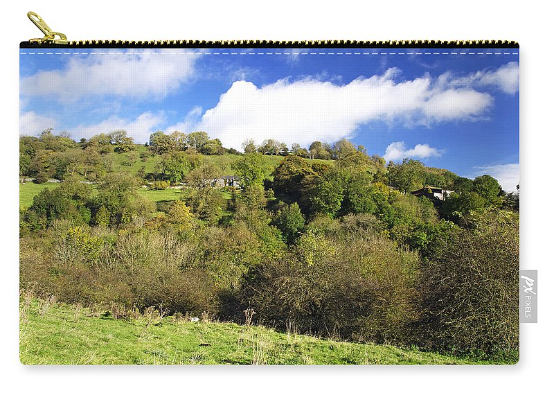 Blue Carry-all Pouch featuring the photograph Across The Southern End Of Monk's Dale by Rod Johnson