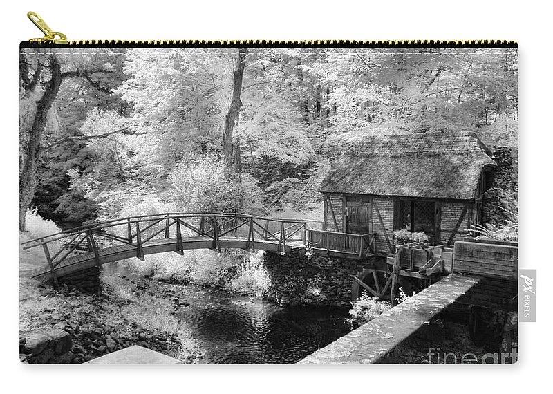 Mill Carry-all Pouch featuring the photograph Across The Stream by Claudia Kuhn